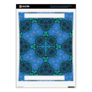 Modern Blue Pattern Xbox 360 Decals