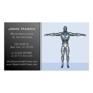 Modern Blue Personal Trainer Business Card Pack Of Standard Business Cards