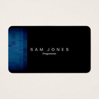Modern Blue Pixel Business Card