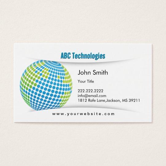 Modern Blue Planet Technoloy Business Card