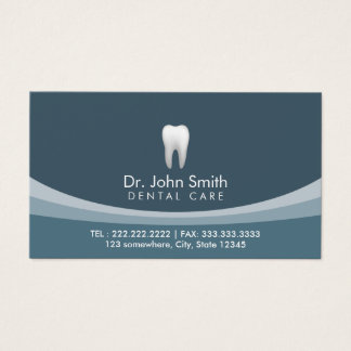 Modern Blue Professional Dental Appointment Business Card