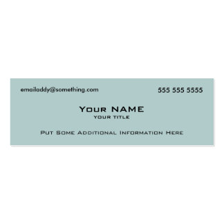 Modern Blue QR Code Mini Business Card