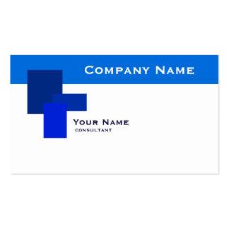 modern blue rectangle business card