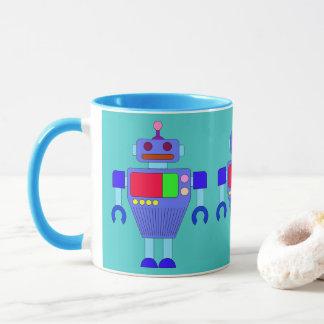 MODERN BLUE ROBOT TOY MUG