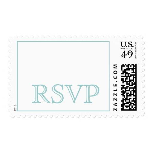 Modern Blue RSVP Postage Stamps