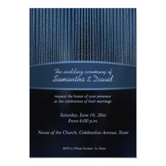 Modern blue sparkles magnetic Wedding invitations