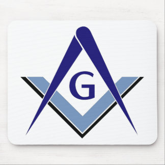 Modern Blue Square & Compasses Mousepads