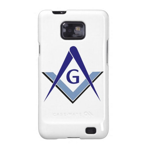 Modern Blue Square & Compasses Samsung Galaxy S2 Covers