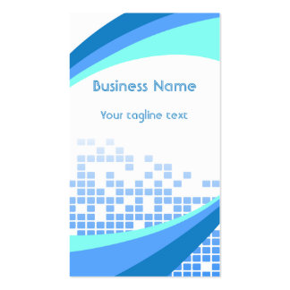 Modern Blue Squares Abstract Business Card Template