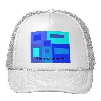 Modern blue squares mesh hats