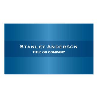 Modern blue stylish dark professional generic business card