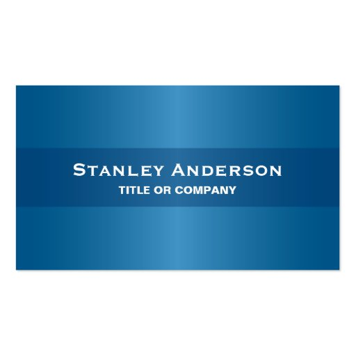 Modern blue stylish dark professional generic business for Generic business cards