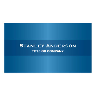 Modern blue stylish dark professional generic Double-Sided standard business cards (Pack of 100)