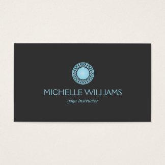 MODERN BLUE SUN LOGO on DARK GRAY Business Card