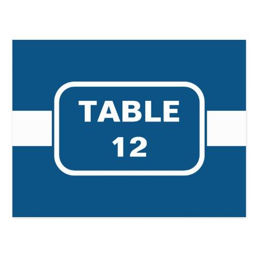Modern Blue Table Number Postcard