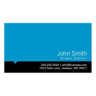 Modern Blue Video Editor Business Card