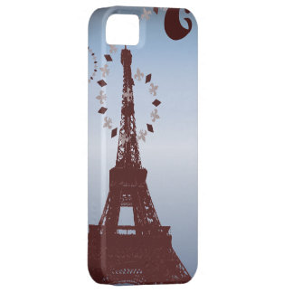 modern blue vintage paris eiffel tower iPhone5case iPhone 5 Cases