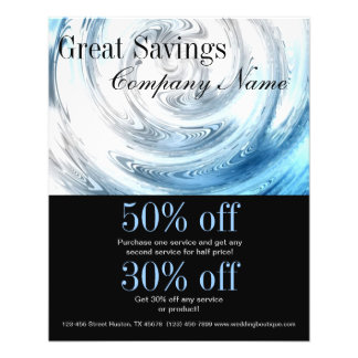 modern blue water abstract business promotional flyer