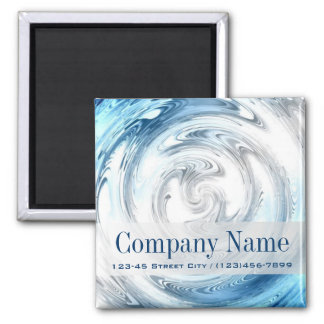 modern blue water abstract business promotional fridge magnet