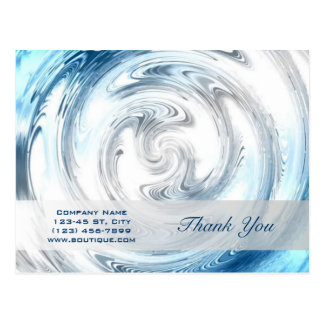 modern blue water abstract business promotional postcard