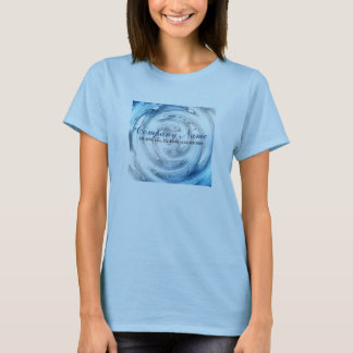 modern blue water abstract business promotional T-Shirt