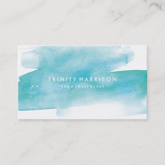Modern Blue Watercolor Business Card Zazzle