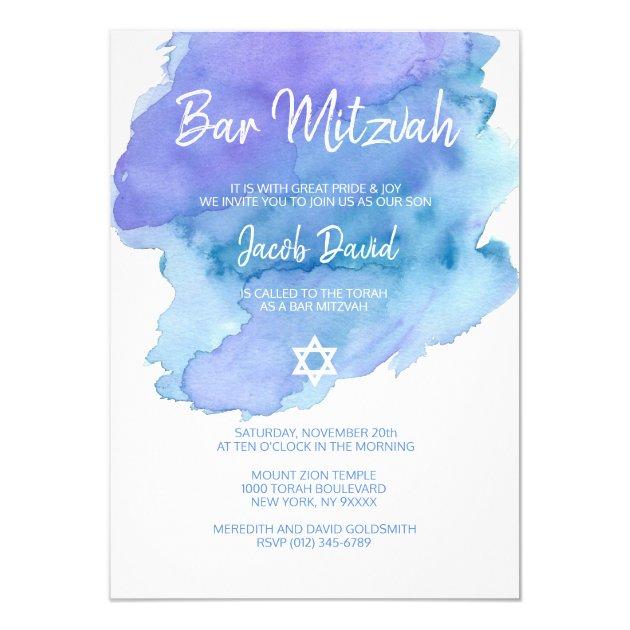 "7//8/"" White Satin Blue Star of David Ribbon Jewish Religious Ceremony Bar Mitzvah"