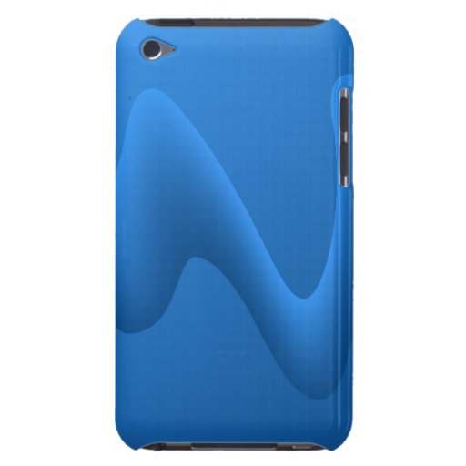 Modern Blue Wave Abstract Design. Barely There iPod Case