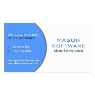Modern Blue & White Technology Business Card