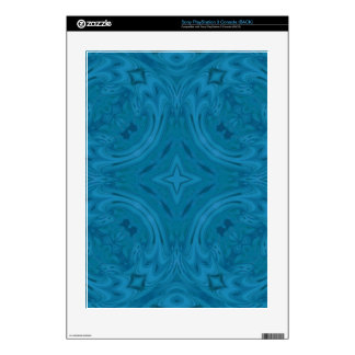 Modern Blue wood Pattern PS3 Decals