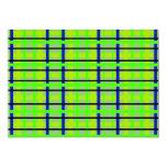 "Modern blue yellow and green plaid 5"" x 7"" invitation card"