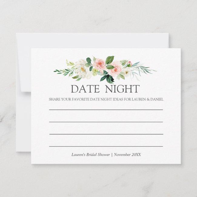 Modern Blush | Bridal Shower Date Night pink Advice Card
