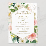 "Modern Blush Gold Floral Watercolor Save The Date<br><div class=""desc"">More modern floral Wedding Save The Date Invitations in the Little Bayleigh Store!</div>"