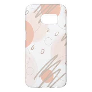 Modern Blush Pink Chic Abstract Samsung Galaxy S7 Case