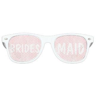 Modern blush pink watercolor Bridesmaid Wayfarer Sunglasses