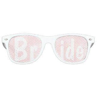 Modern blush pink watercolor wedding Bride Wayfarer Sunglasses