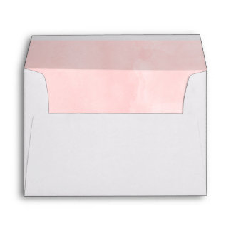 Modern blush pink watercolor wedding envelope