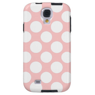 Modern Blush Pink White Polka Dots Pattern Galaxy S4 Case