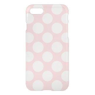 Modern Blush Pink White Polka Dots Pattern iPhone 7 Case
