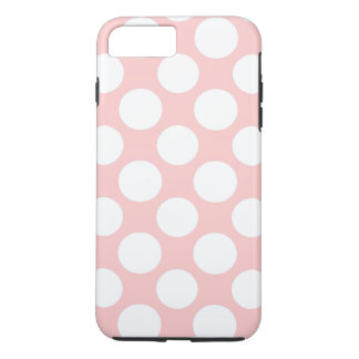 Modern Blush Pink White Polka Dots Pattern iPhone 7 Plus Case