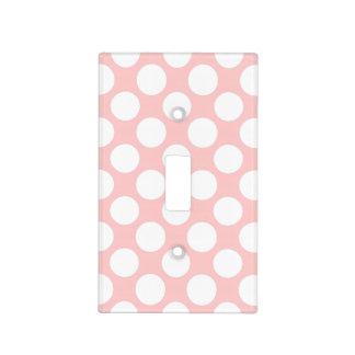 Pink Polka Dot Light Switch Covers Zazzle