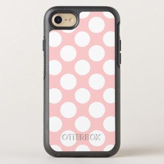 Modern Blush Pink White Polka Dots Pattern OtterBox Symmetry iPhone 8/7 Case
