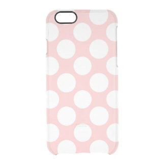 Modern Blush Pink White Polka Dots Pattern Uncommon Clearly™ Deflector iPhone 6 Case