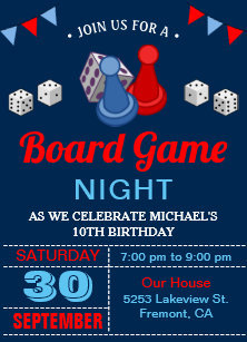 Game Night Invitations Zazzle