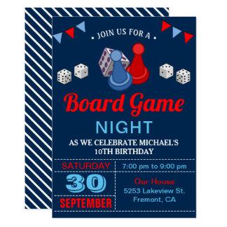 Modern Board Game Night Birthday Party Invitation