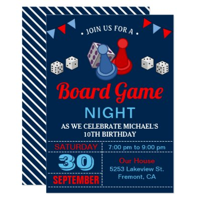 Board Game Night Invitation Zazzle Com