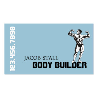 Modern Body Builder Personal Trainer Fitness Business Card