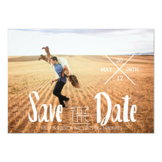Modern Bohemian Typography | Photo Save The Date Card