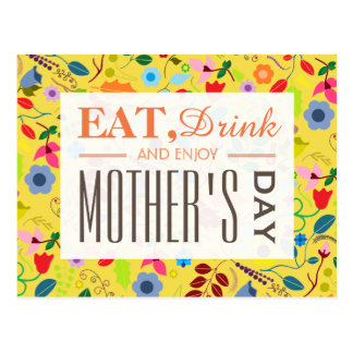 Modern Boho Chic Floral Mother's Day Postcard