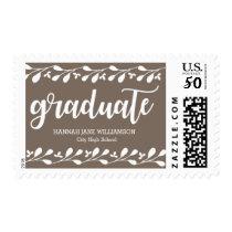 Modern Boho Floral Personalized Graduation Postage